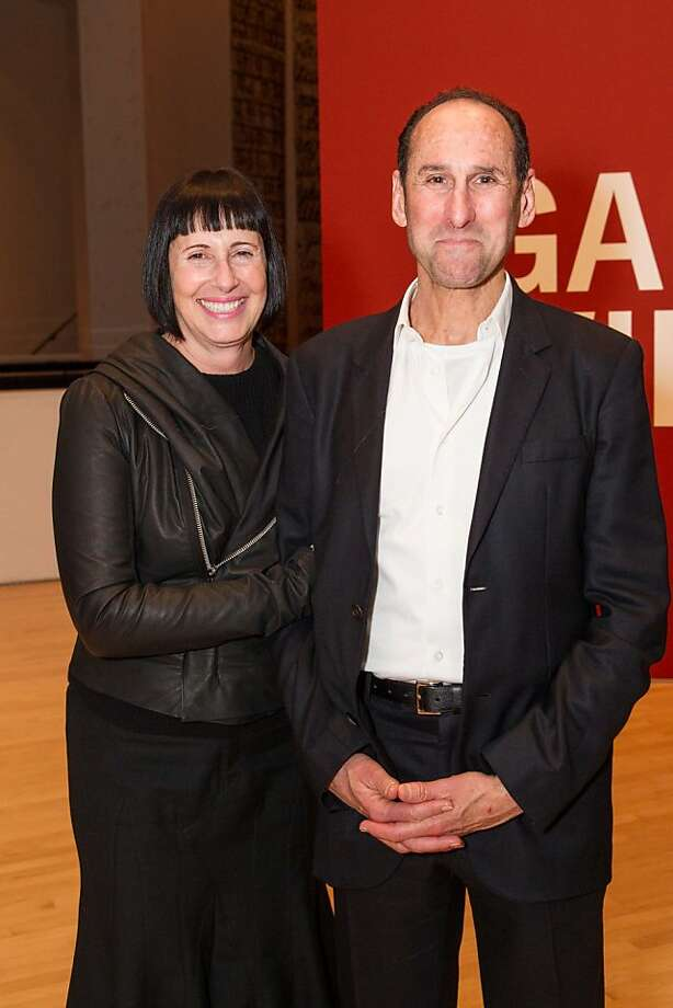 Carla Emil and Rich Silverstein at SFMOMA's Garry Winogrand opening reception on March 06, 2013. Photo: Drew Altizer Photography, Photo : Laura Morton For Drew Al