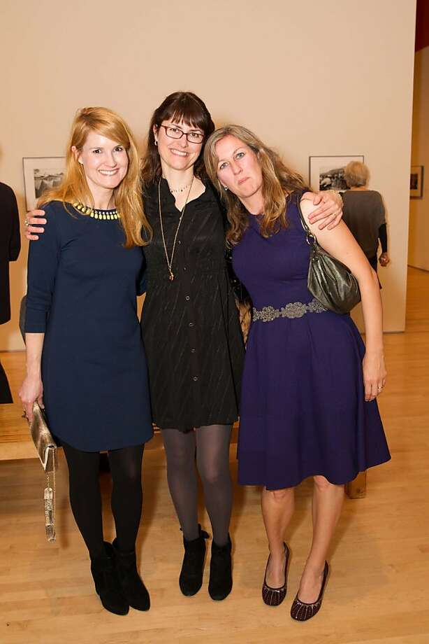 Julie Casemore, Erin O'Toole and Amy Boe Power at SFMOMA's Garry Winogrand opening reception on March 06, 2013. Photo: Drew Altizer Photography, Photo : Laura Morton For Drew Al