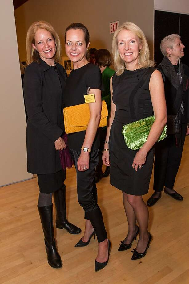 Corie Knights, Charlot Malin and Ann Girard at SFMOMA's Garry Winogrand opening reception on March 06, 2013. The event included a first look at the exhibit along with the opportunity to learn more about the famed street photographer's work from his friend and fellow photographer Tod Papageorge. Photo: Drew Altizer Photography, Photo : Laura Morton For Drew Al