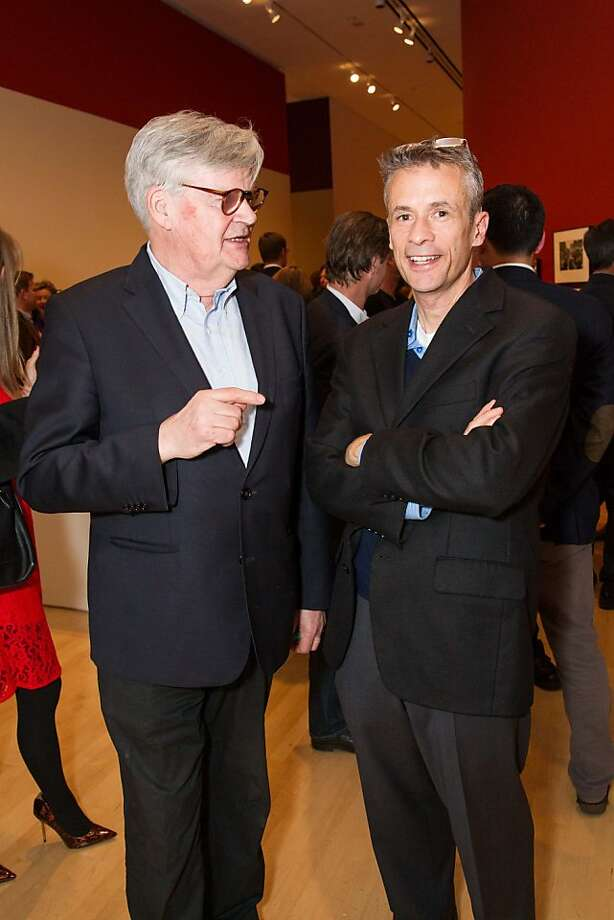Geoffrey James and Alexander Nemerov at SFMOMA's Garry Winogrand opening reception on March 06, 2013. Photo: Drew Altizer Photography, Photo : Laura Morton For Drew Al