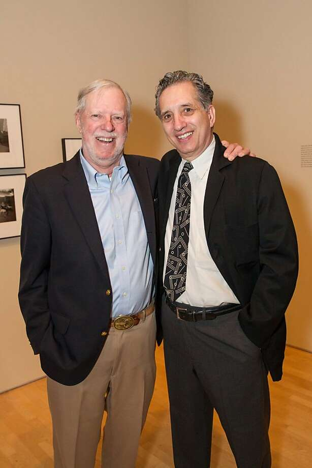 FILE-- Richard Benson and Thomas Roma at SFMOMA's Garry Winogrand opening reception on March 06, 2013. The National Gallery of Art will not present solo exhibitions by painter Chuck Close and photographer Thomas Roma, both of whom have been accused of sexual misconduct. Photo: Drew Altizer Photography, Photo : Laura Morton For Drew Al