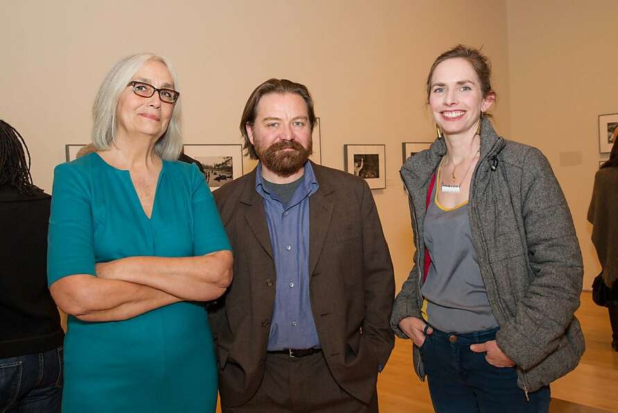 Susan Kismaric, Zsolt Kadar and Olivia Mole at SFMOMA's Garry Winogrand opening reception on March 0