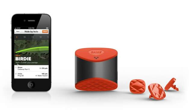Game Golf lets you track your game using small widgets on your golf club, a device on your belt and a multi-platform tracking application.