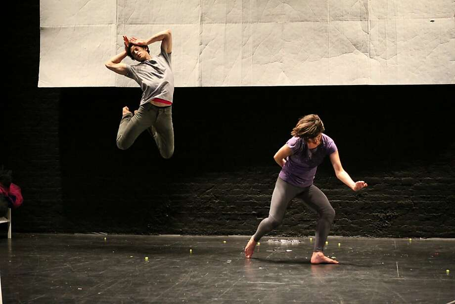 "Jesse Zaritt and Faye Driscoll in Driscoll's ""You're Me,"" a roller coaster that ranges from placid to intense. Photo: Steven Schreiber, Driscoll Dance"