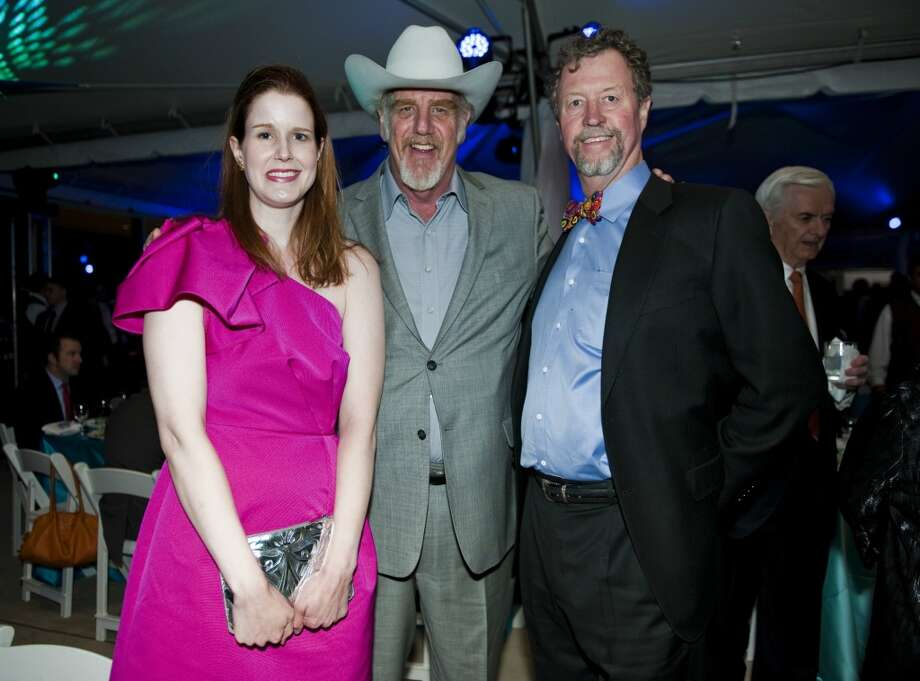 Musician Ray Benson, center, with Mary Hammon Lee, left, and Tom Frost III, right, both of Austin, during the 2013 Texas Medal of Arts gala on Tues., March 5, 2013 at the Long Center in Austin, TX.Ashley Landis for the Houston Chronicle