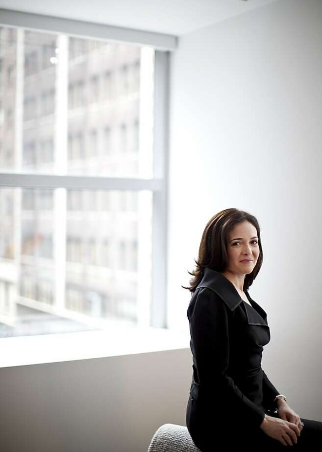 Sheryl Sandberg, COO of Facebook, in her book tells women to get real about taking their place in the workplace. Photo: Todd Heisler, New York Times