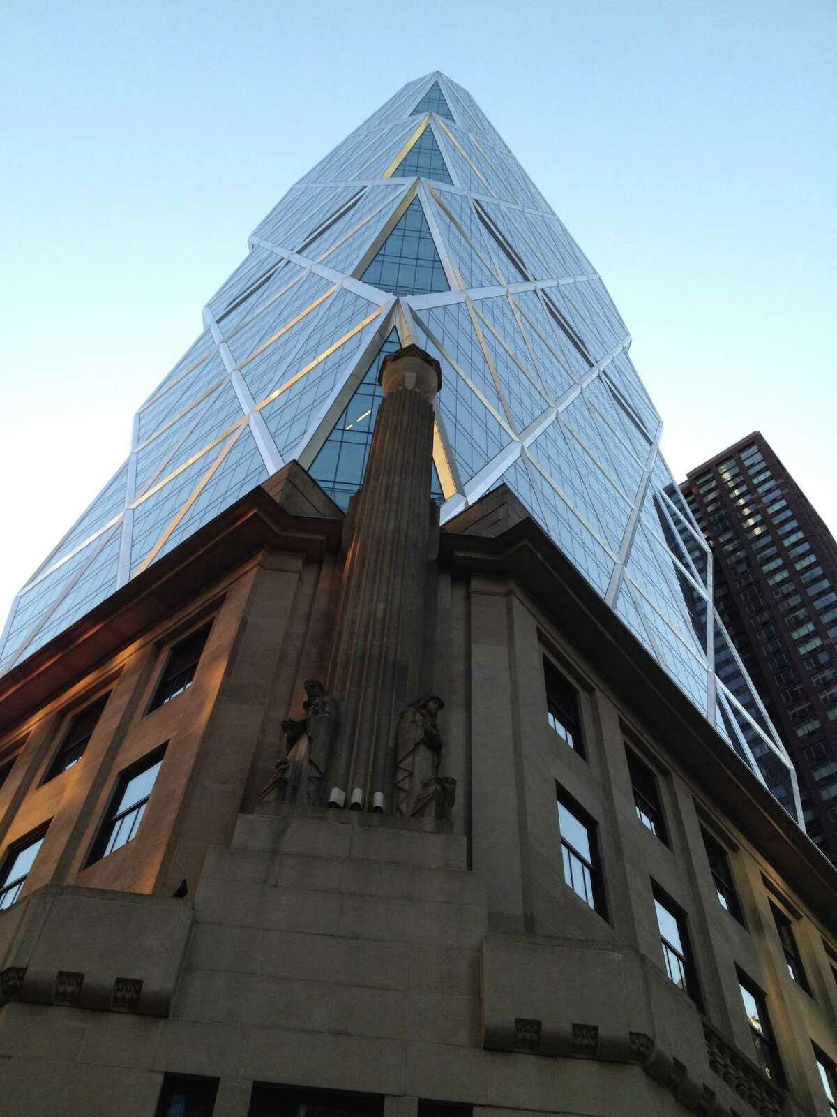 image of the Hearst Tower in New York City from the film Citizen Hearst by Leslie Iwerks