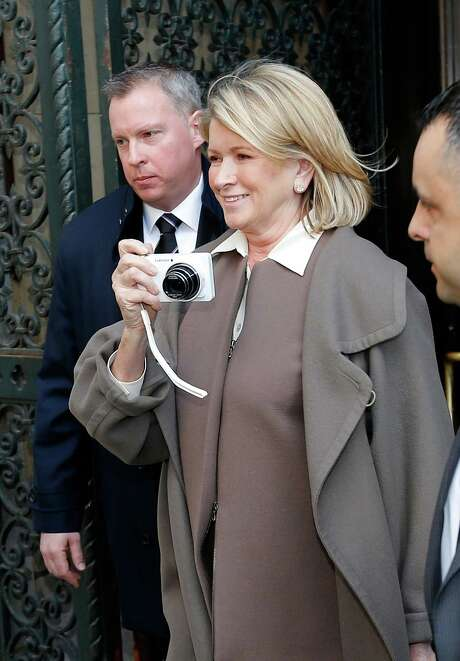 NEW YORK - MARCH 05:  Martha Stewart departs the Manhattan Supreme Court after testifying in March 5, 2013 In New York City.  Stewart is testifying after Macy's Department Store sued the rival retailer J.C. Penney and Martha Stewart Living Omnimedia when plans to launch Martha Stewart boutiques in J.C. Penney stores were announced December of 2011.  (Photo by Jemal Countess/Getty Images) Photo: Jemal Countess, Stringer / 2013 Getty Images
