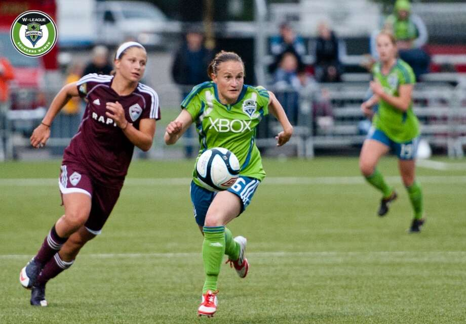 Lyndsey Patterson (pictured at center)Position: midfielder/forwardAge: 30Hometown: Kent, Wash.Last club: Sounders Women