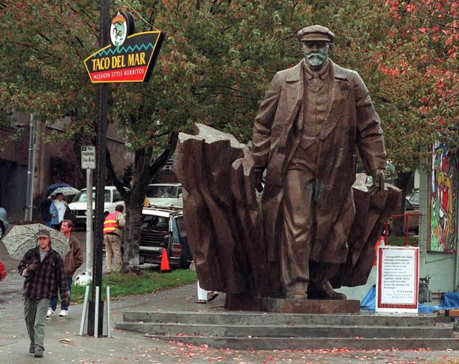 The Fremont Chamber of Commerce supports the planet sculpture, according to a document filed with the city last month. If officials approve, Saturn will join other quirky sculptures in Fremont, including Lenin (pictured), the Troll and ''Waiting for the Interurban.''