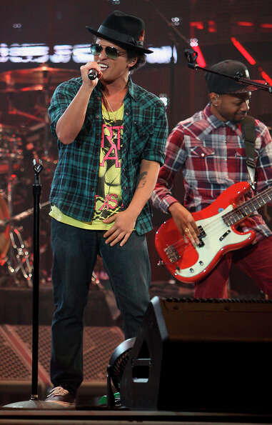 Bruno Mars performs in concert at RodeoHouston in Reliant Stadium Thursday, March 7, 2013, in Housto