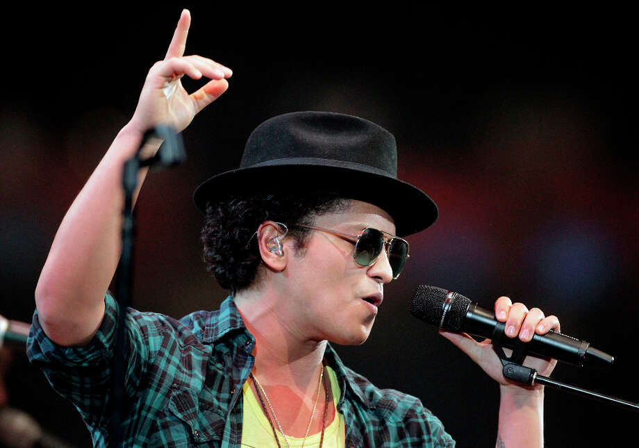 Bruno Mars performs in concert at RodeoHouston in Reliant Stadium Thursday, March 7, 2013, in Houston. Photo: James Nielsen, Houston Chronicle / © 2013  Houston Chronicle