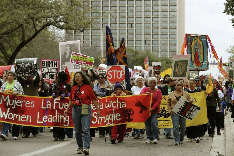 This year's march will take a different route than previous years, but many of the issues women face are the same. Photo: File Photo, San Antonio Express-News