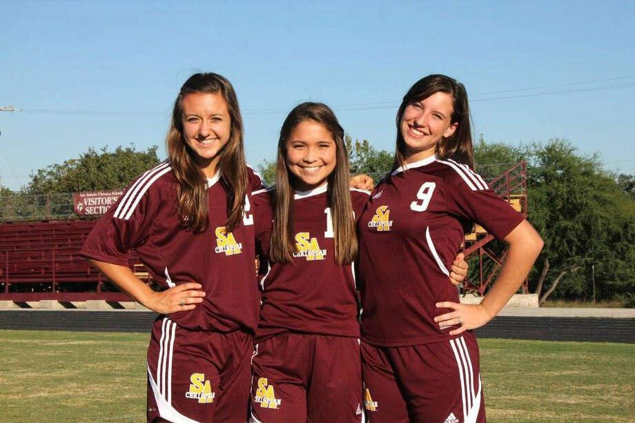 Emily Duke and Miranda Menchaca have helped S.A. Christian score 103 goals. Photo: Courtesy Photo