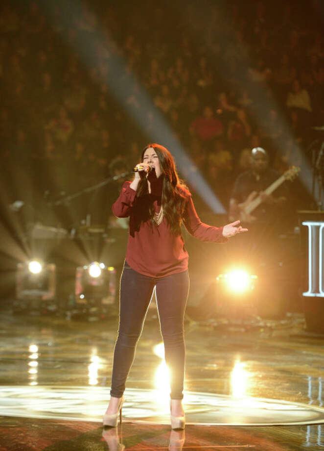 AMERICAN IDOL: Kree Harrison performs in front of the judges on AMERICAN IDOL airing live Tuesday, March 5 (8:00-10:00PM ET/PT) on FOX. CR: Michael Becker / FOX. Copyright / FOX.