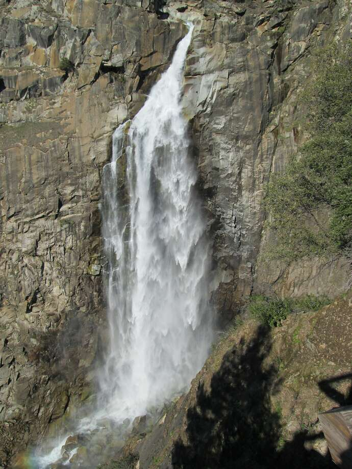 From the viewing deck, full frontal of 410-foot Feather Falls. Photo: Tom Stienstra, The Chronicle