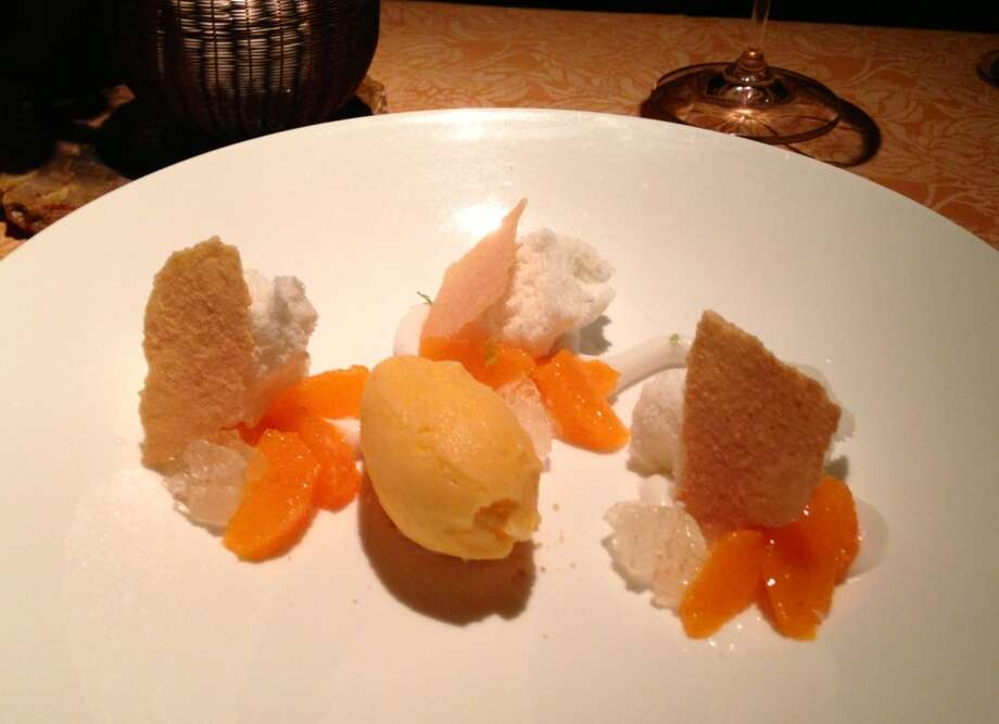 Tangerine sorbet at Auberge du Soleil in Rutherford