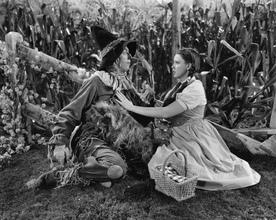 Judy Garland as Dorothy and Ray Bolger as the Scarecrow. Photo: MGM Studios, Getty Images / 2009 Getty Images