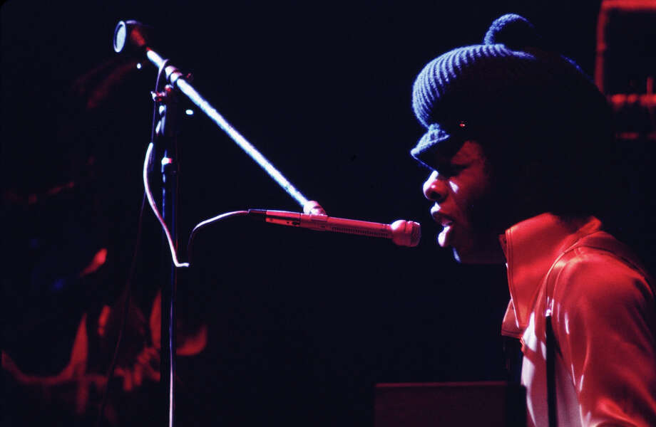 Sly Stone (Sylvester Stewart) of the Sly and The Family Stone performs during a concert at Madison Square Garden in 1969 in New York City. Photo: Walter Iooss Jr, Getty Images / 1969 Walter Iooss Jr.