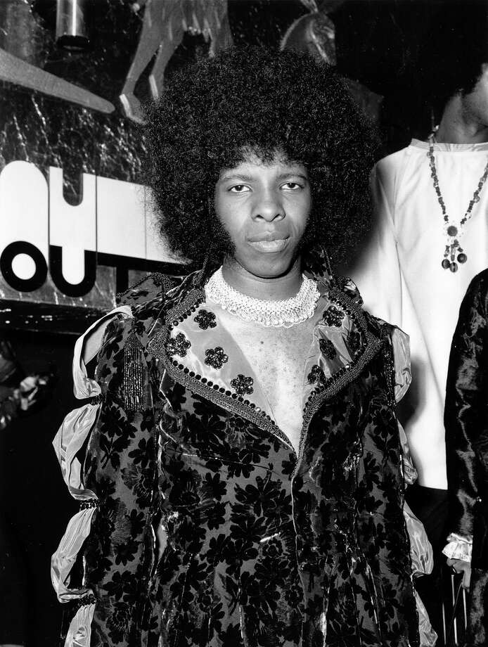 Singer Sylvester Stewart, better known as Sly Stone, leader of the popular American funk rock group Sly And The Family Stone, at the Hatchett's Club, Piccadilly, London. Photo: Central Press, Getty Images / Hulton Archive