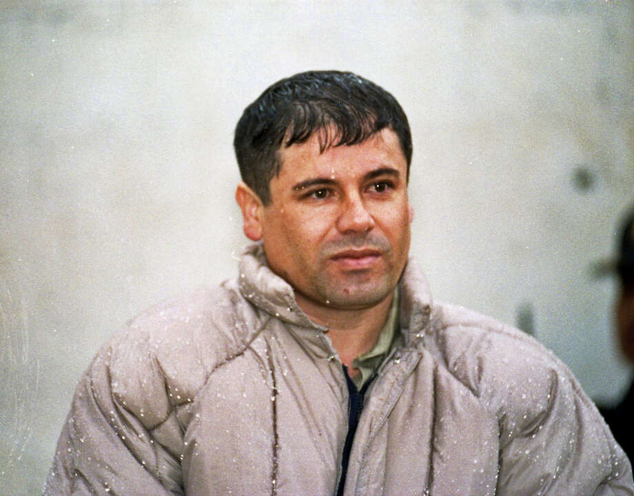 "FILE - In this June 10, 1993 file photo, Mexican drug lord Joaquin ""El Chapo"" Guzman, is shown to the press after his arrest at the high security prison of Almoloya de Juarez, on the outskirts of Mexico City. Mexico's most powerful kingpin has won a two-year bloody battle for control of drug routes through the border city of Ciudad Juarez, U.S. intelligence has concluded, the latest indication that Joaquin ""El Chapo"" Guzman's Sinaloa cartel is coming out on top in the country's drug war. Photo: Damian Dovarganes, AP / AP"