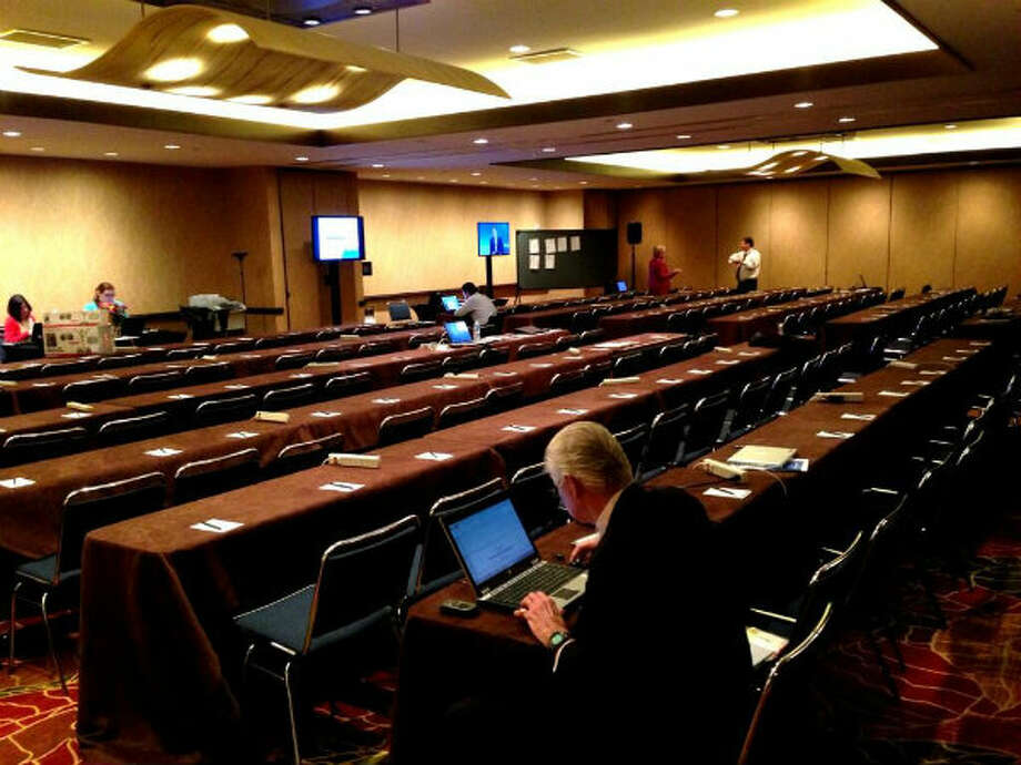 The press room today, on Day 5