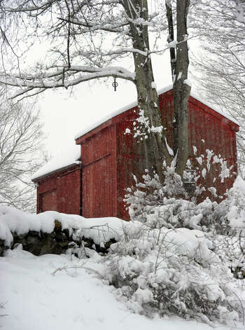 A pretty winter scene in Newtown, Conn. Friday, March 8, 2013, after an overnight snowfall. Photo: Carol Kaliff / The News-Times