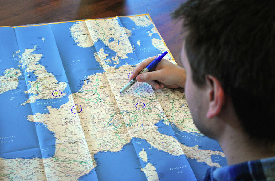 Marking up a map can help you plan a logical route for your European vacation. Photo: Rhonda Pelikan, Ricksteves.com