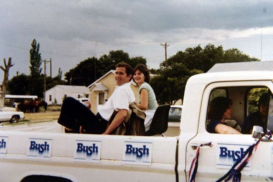 ** FILE ** George W. Bush, 32, campaigns for Congress with his wife Laura in this 1978 photo after having moved back to Midland, Texas, his childhood home, and entered the oil business. Midland was at the southern end of West Texas' sprawling 19th Congressional District. Twenty-eight years after his first campaign President Bush is waging his last for Republicans in the upcoming November elections, and Monday, Oct. 30, 2006, he holds his first rally aimed at boosting the vote. Photo: AP / GEORGE BUSH PRESIDENTIAL LIBRARY