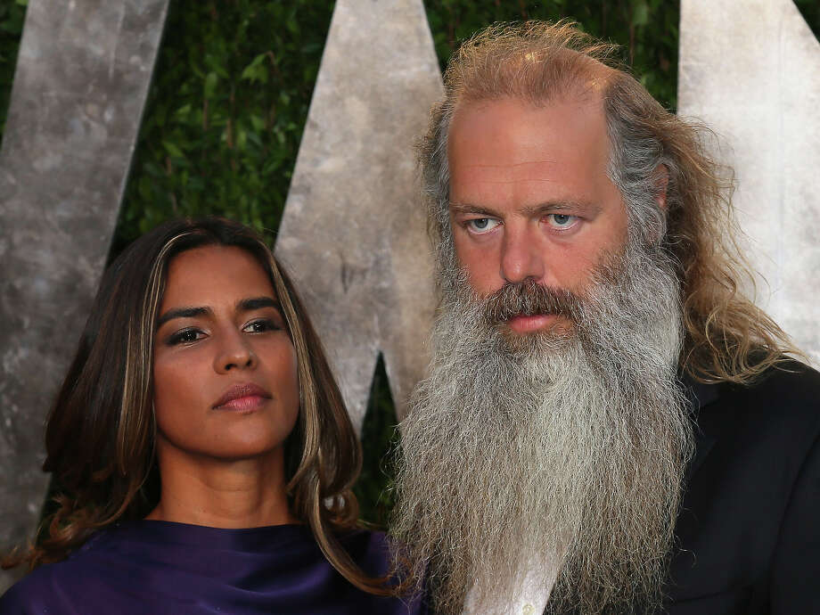 Record producer Rick Rubin (seen here with Mourielle Herrera) is 50 on Sunday. Photo: David Livingston, Getty Images / 2013 David Livingston