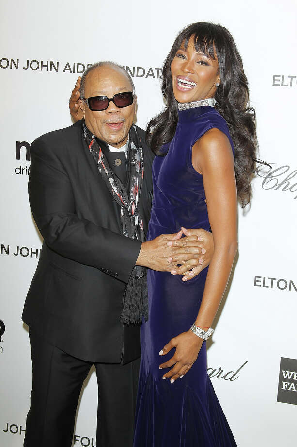 Quincy Jones (shown here with Naomi Campbell) is 80 on Thursday. Photo: Michael Tran, Getty Images / 2013 Michael Tran