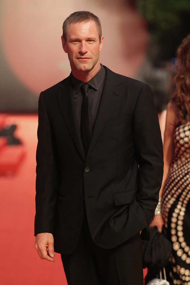 Actor Aaron Eckhart is 45 on Tuesday. Photo: ChinaFotoPress, Getty Images / 2012 ChinaFotoPress