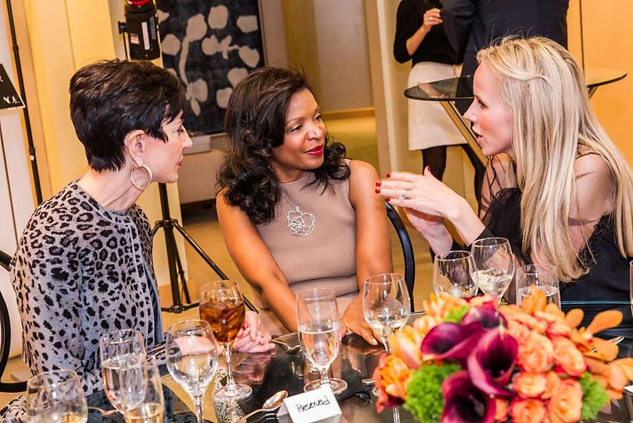 Amy Fine Collins, Pamela Joyner and Vanessa Getty at Neiman Marcus and Vanity Fair's International Best-Dressed List luncheon in San Francisco on March 07, 2013. Photo: Drew Altizer Photography