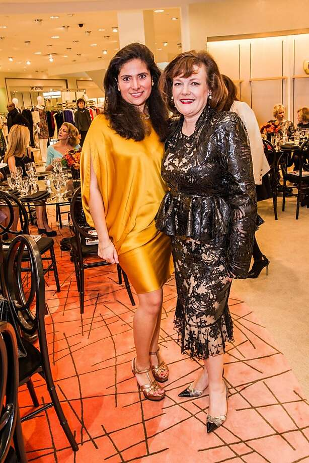 Minal Jethmal and Jenninfer Raiser at Neiman Marcus and Vanity Fair's International Best-Dressed List luncheon in San Francisco on March 07, 2013. Photo: Drew Altizer Photography