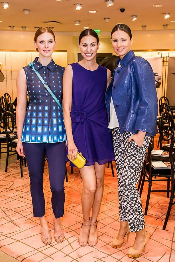 Adair Arnold, Nicole Daryanani and Sanela Inajetovic at Neiman Marcus and Vanity Fair's International Best-Dressed List luncheon in San Francisco on March 07, 2013. Photo: Drew Altizer Photography