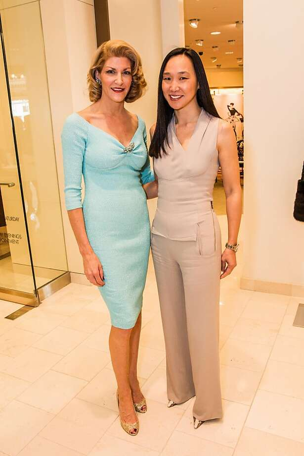 Karen Caldwell and Carolyn Chang at Neiman Marcus and Vanity Fair's International Best-Dressed List luncheon in San Francisco on March 07, 2013. Photo: Drew Altizer Photography, Laura Morton For Drew Altizer Ph