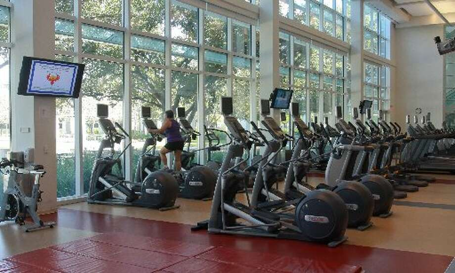 The gym at the ConocoPhillips fitness center.