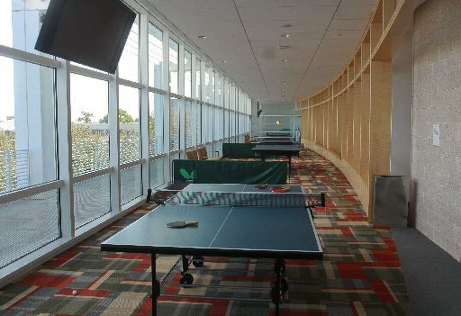 Table tennis tournaments take place in this part of the fitness center at ConocoPhillips.