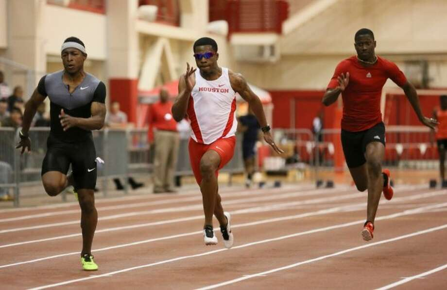 For the first time in his college career, UH sprinter Errol Nolan is an national champion. (Photo courtesy of UH Athletics)