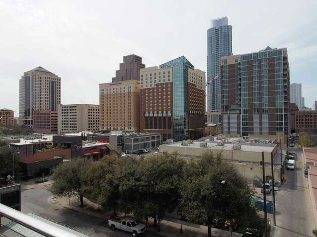 General view of downtown Austin, Texas from the balcony of the Austin Convention Center on Thursday March 7, 2012 on the eve of the opening of the 27th South By Southwest (SXSW) interactive, film and music festival.  The 10-day event is a magnet for thousands of technology innovators, independent film-makers and up-and-coming musical performers.  AFP PHOTO / Robert MacPhersonRobert MacPherson/AFP/Getty Images Photo: ROBERT MACPHERSON, AFP/Getty Images / AFP