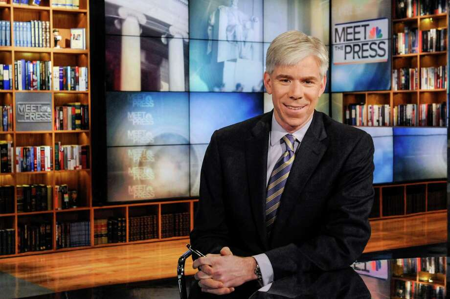 "This Feb. 24, 2013 photo released by NBC News shows moderator David Gregory on the set of ""Meet the Press,"" in Washington. The 42-year-old Gregory was named ""Meet the Press"" moderator in December 2008 after serving as Chief White House correspondent during the presidency of George W. Bush.  (AP Photo/NBC, William B.  Plowman) Photo: William B. Plowman"
