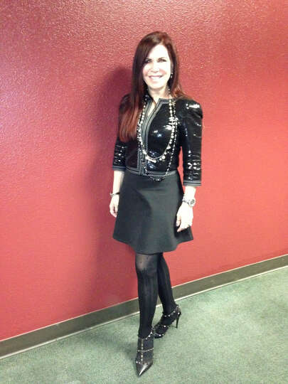Vivian Bucay loves some flash in her fashion, especially when she's wearing dramatic black. H