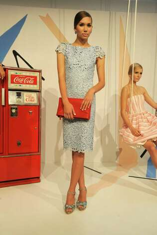 A model poses at Alice + Olivia By Stacey Bendet Spring 2013 Presentation during Mercedes-Benz Fashion Week at Century 548 on September 10, 2012 in New York City. Photo: Rabbani And Solimene Photography, Getty Images For Alice + Olivia / 2012 Getty Images