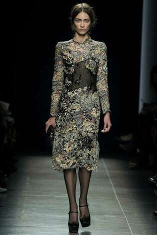 A model walks the runway at the Bottega Veneta Spring Summer 2013 fashion show during Milan Fashion Week on September 22, 2012 in Milan, Italy. Photo: Chris Moore/Catwalking, Getty Images / 2012 Catwalking