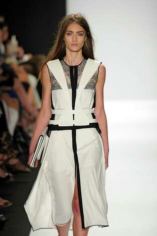 A model walks the runway at the BCBG Max Azria Spring Summer 2013 fashion show during New York Fashion Week on September 6, 2012 in New York, United States. Photo: Karl Prouse/Catwalking, Getty Images / 2012 Catwalking
