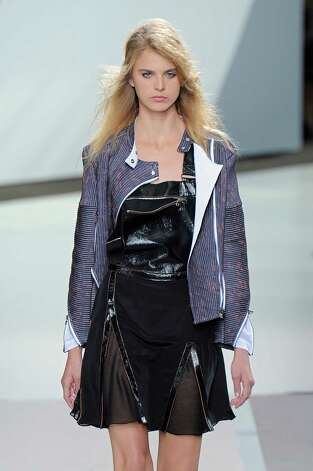 A model walks the runway at the 3.1 Phillip Lim Spring Summer 2013 fashion show during New York Fashion Week on September 10, 2012 in New York, United States. Photo: Chris Moore/Catwalking, Getty Images / 2012 Catwalking