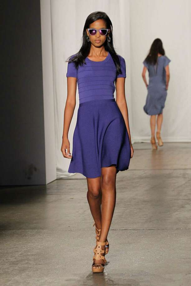 A model wearing Rebecca Taylor Spring 2013 walks the runway at the Highline Stages on September 8, 2012 in New York City Photo: Neilson Barnard, Getty Images / 2012 Getty Images