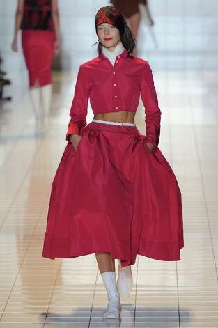A model walks the runway at the Rochas Spring Summer 2013 fashion show during Paris Fashion Week on September 26, 2012 in Paris, France. Photo: Nathalie Lagneau/Catwalking, Getty Images / 2012 Catwalking