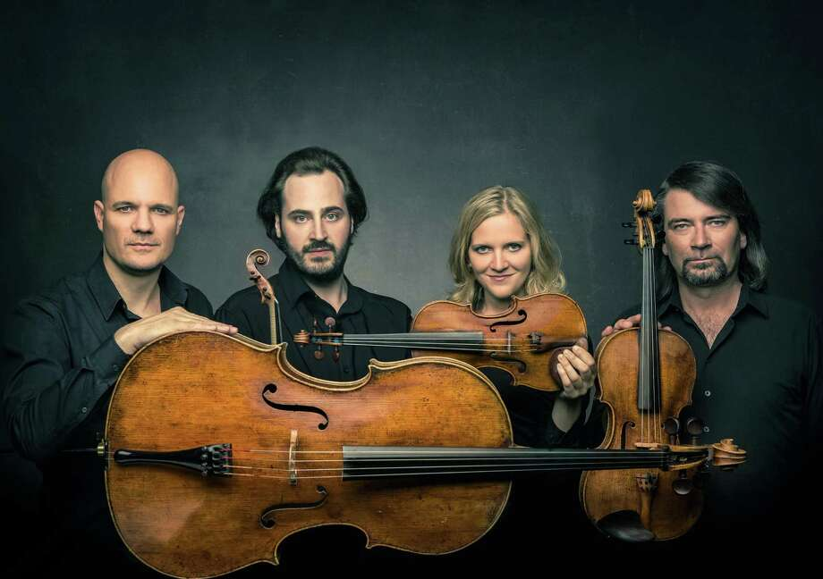 The Artemis Quartet includes, from left, Eckart Runge, Gregor Sigl, Vineta Sareika and Friedemann Weigle. Photo: MolinaVisuals