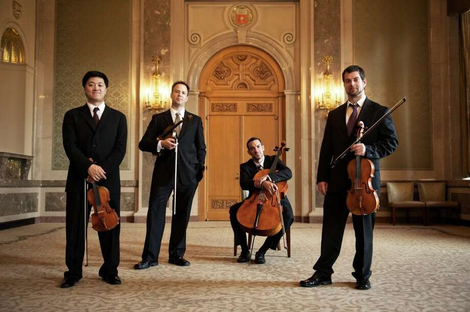 The Miro Quartet will perform for Chamber Music Houston at Rice University. Photo: Nathan Russell